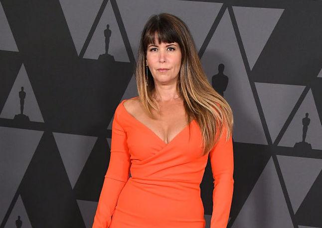 Picture of Patty Jenkins Orange Dress