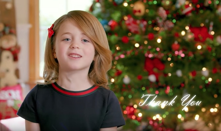 Picture of Trump Merry Christmas Ad