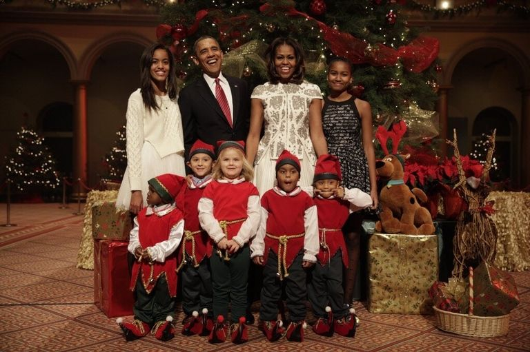 Obama 2017 Christmas Photo
