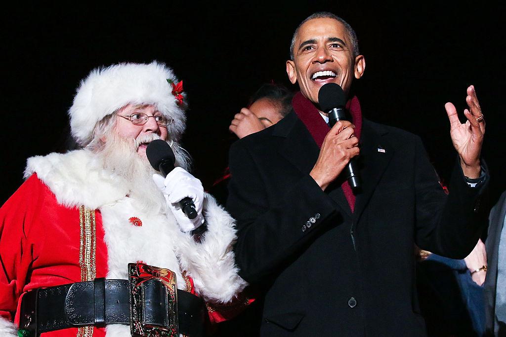 Picture of Barack Obama Santa