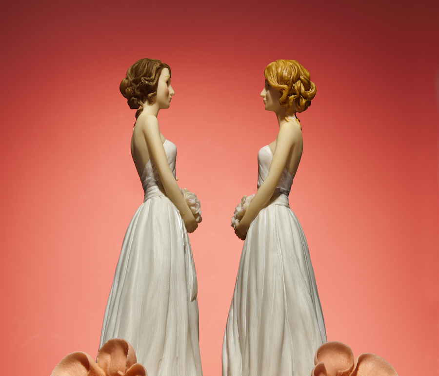 lesbian cake topper