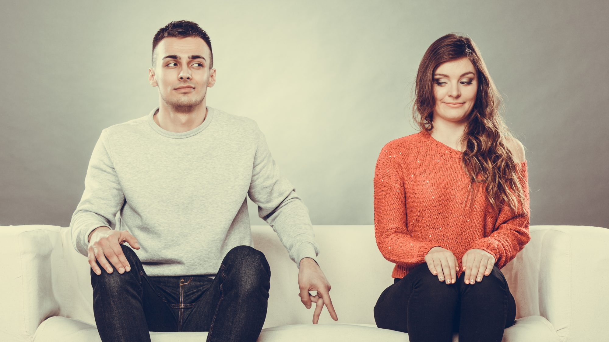 Picture of Single People Sitting on Sofa