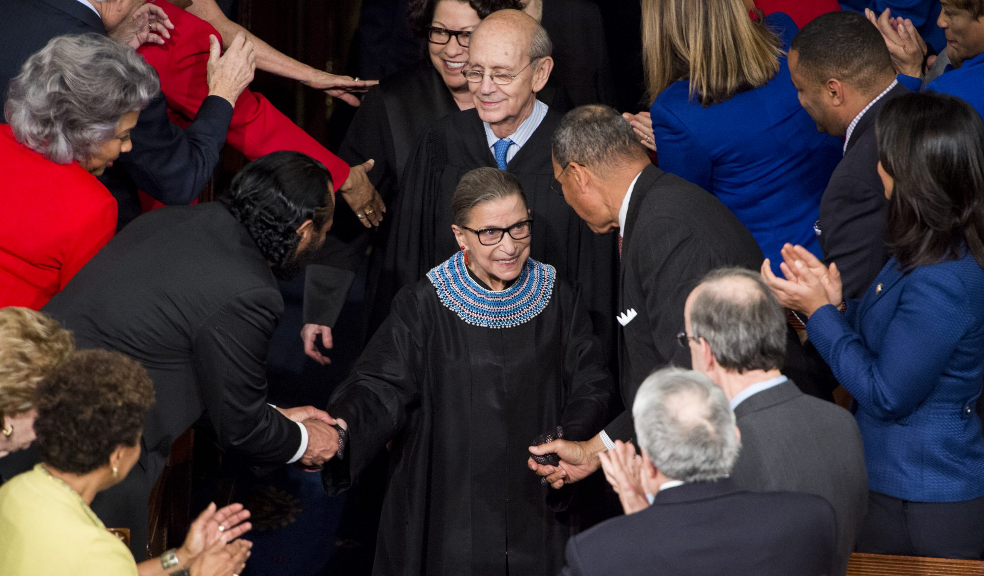 Photo of Supreme Court Justice Ruth Bader Ginsburg Arriving at the State of the Union