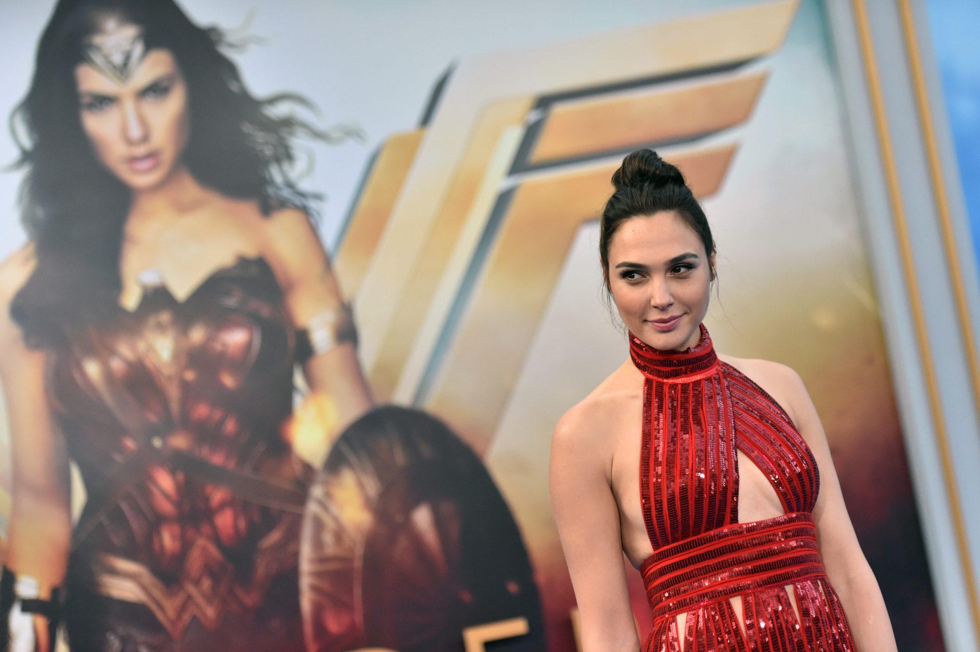 "Photo of Gal Gadot at the Hollywood Premiere of ""Wonder Woman"""