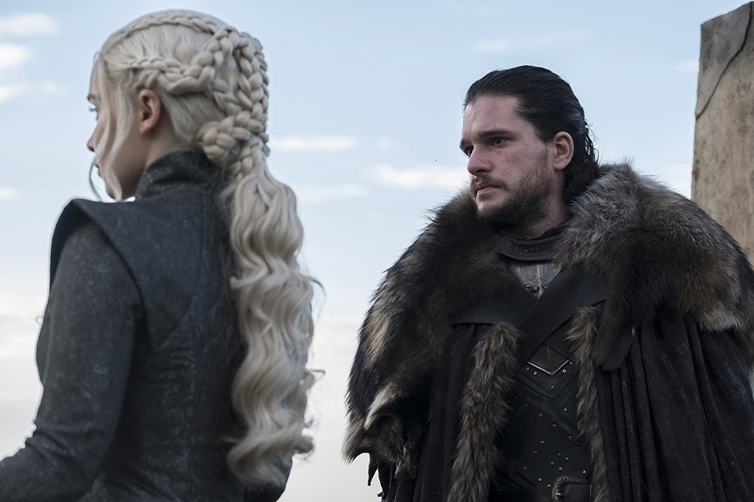 "Photo of Kit Harington and Emilia Clarke in ""Game of Thrones"""