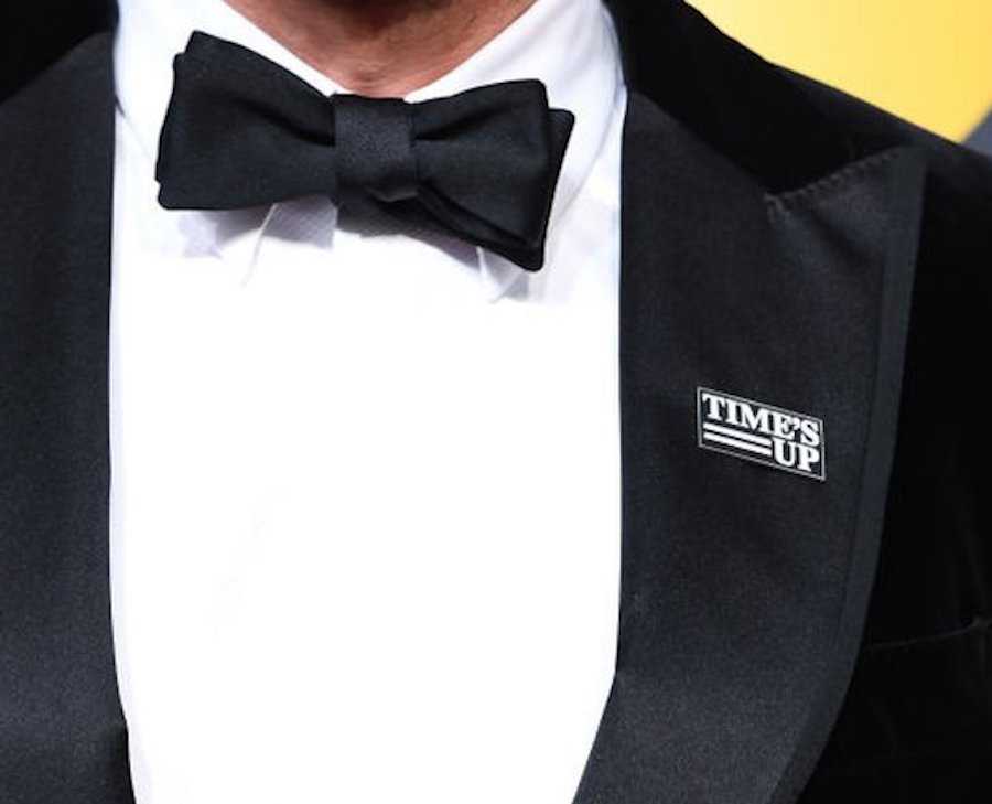 Time's Up pin at Golden Globes