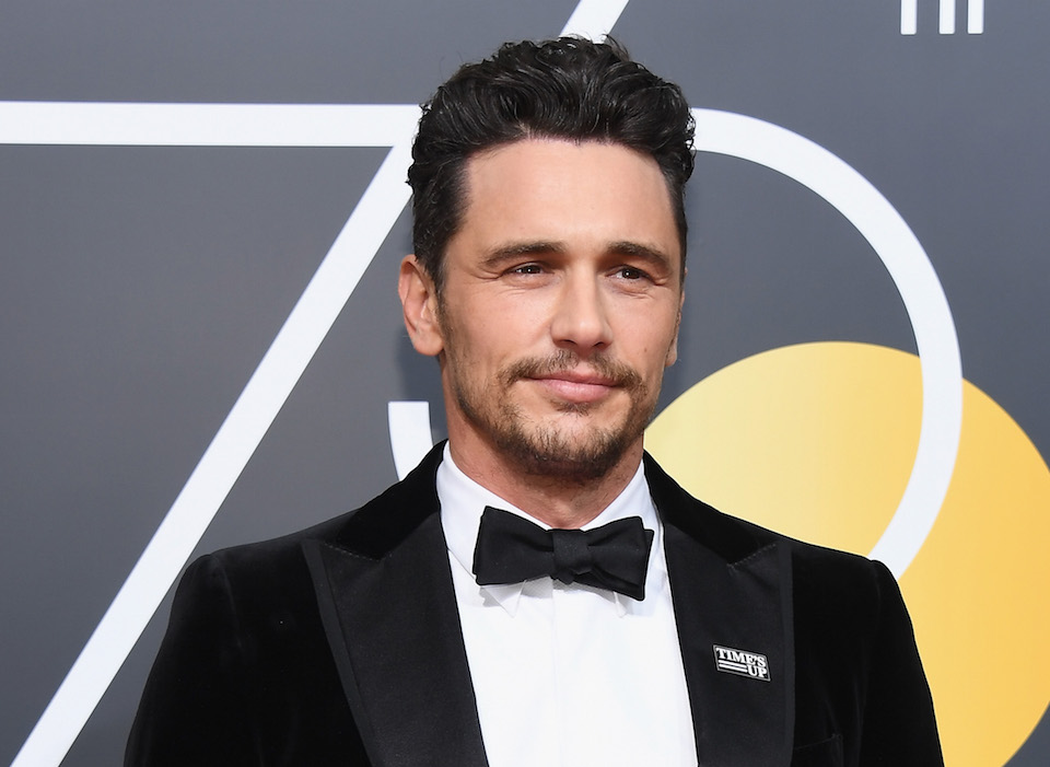 James Franco arrives to the 75th Annual Golden Globe Awards