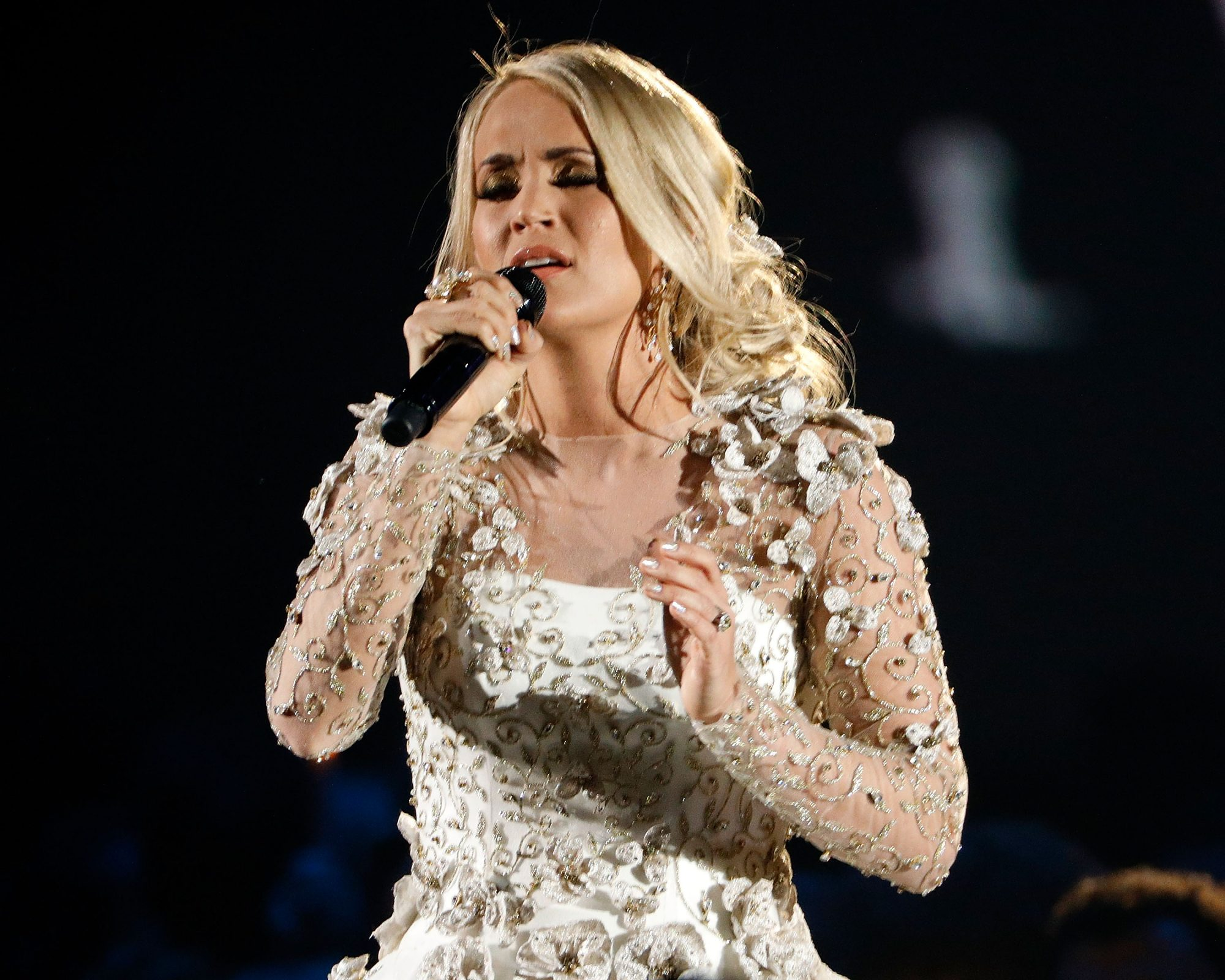Photo of Carrie Underwood Performing at the 51st Annual CMA Awards
