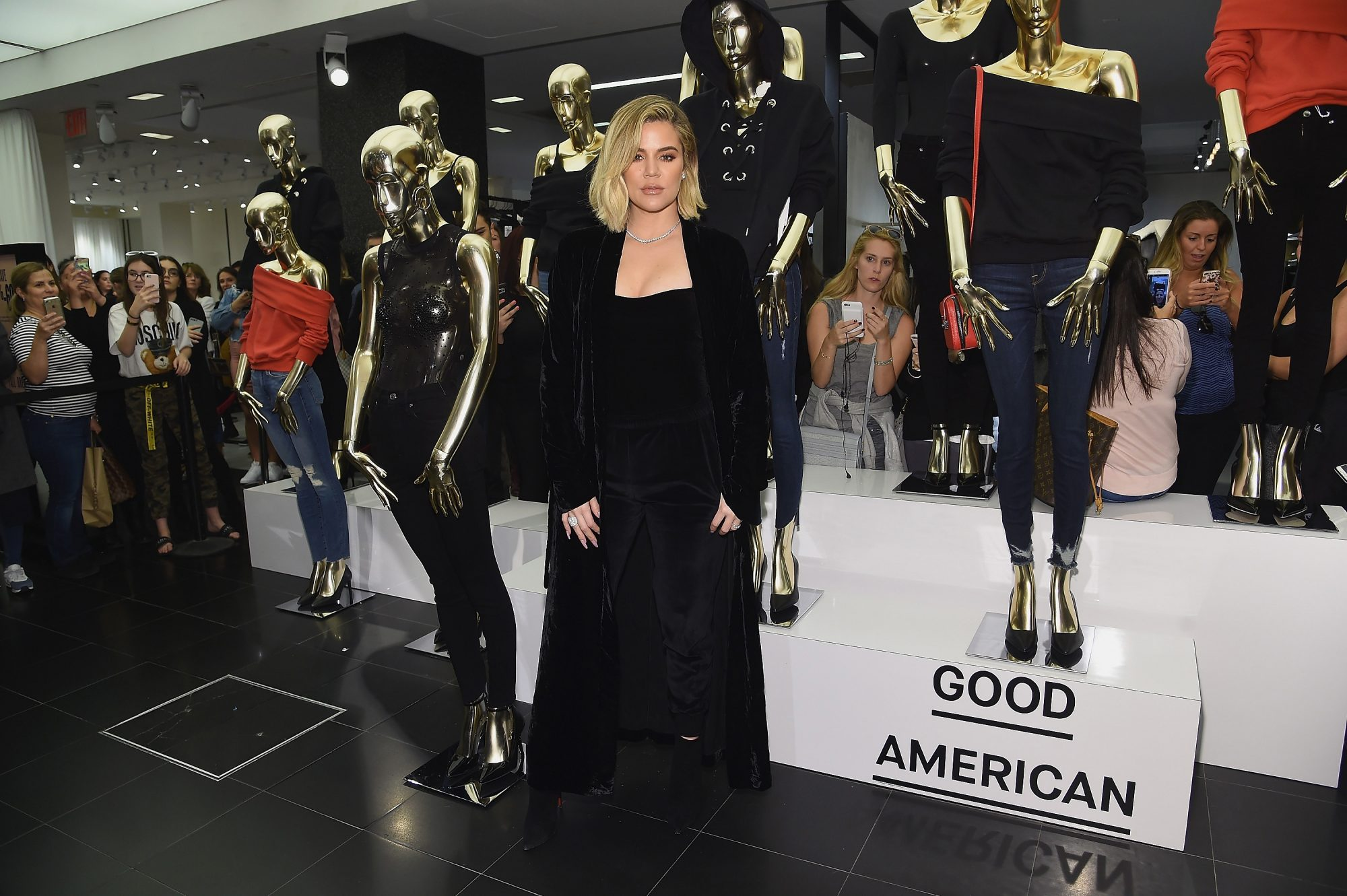 Photo of Khloe Kardashian at the Launch of Her Good American Clothing Brand