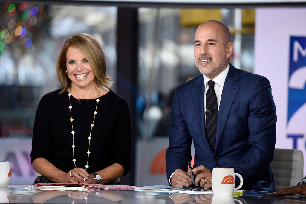 Picture of Katie Couric and Matt Lauer Today Desk
