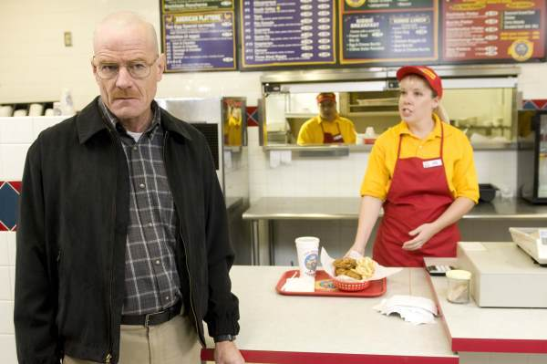 "Photo of Bryan Cranston as Walter White in ""Breaking Bad"""