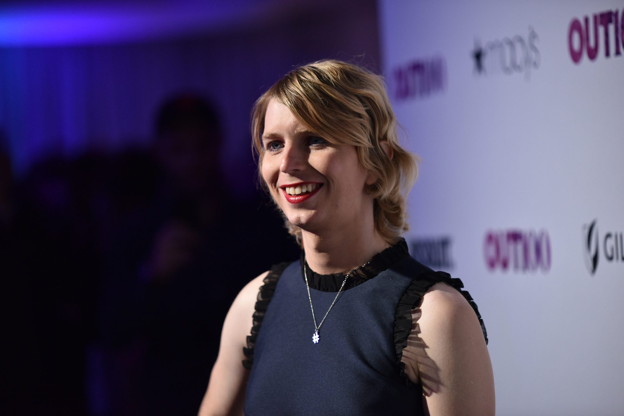 Photo of Chelsea Manning at the #OUT100 Event