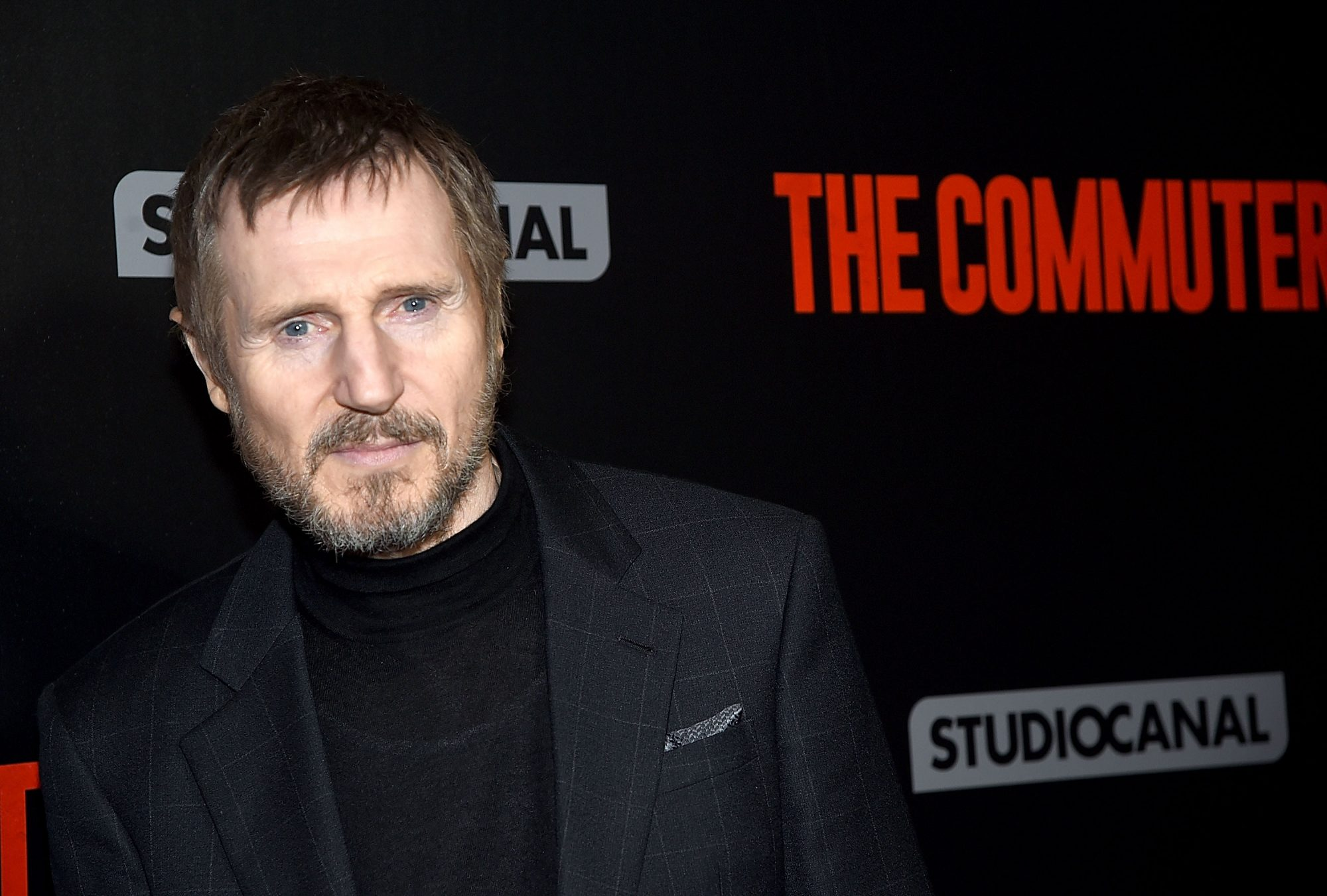 """Photo of Liam Neeson at the New York Premiere of """"The Commuter"""""""