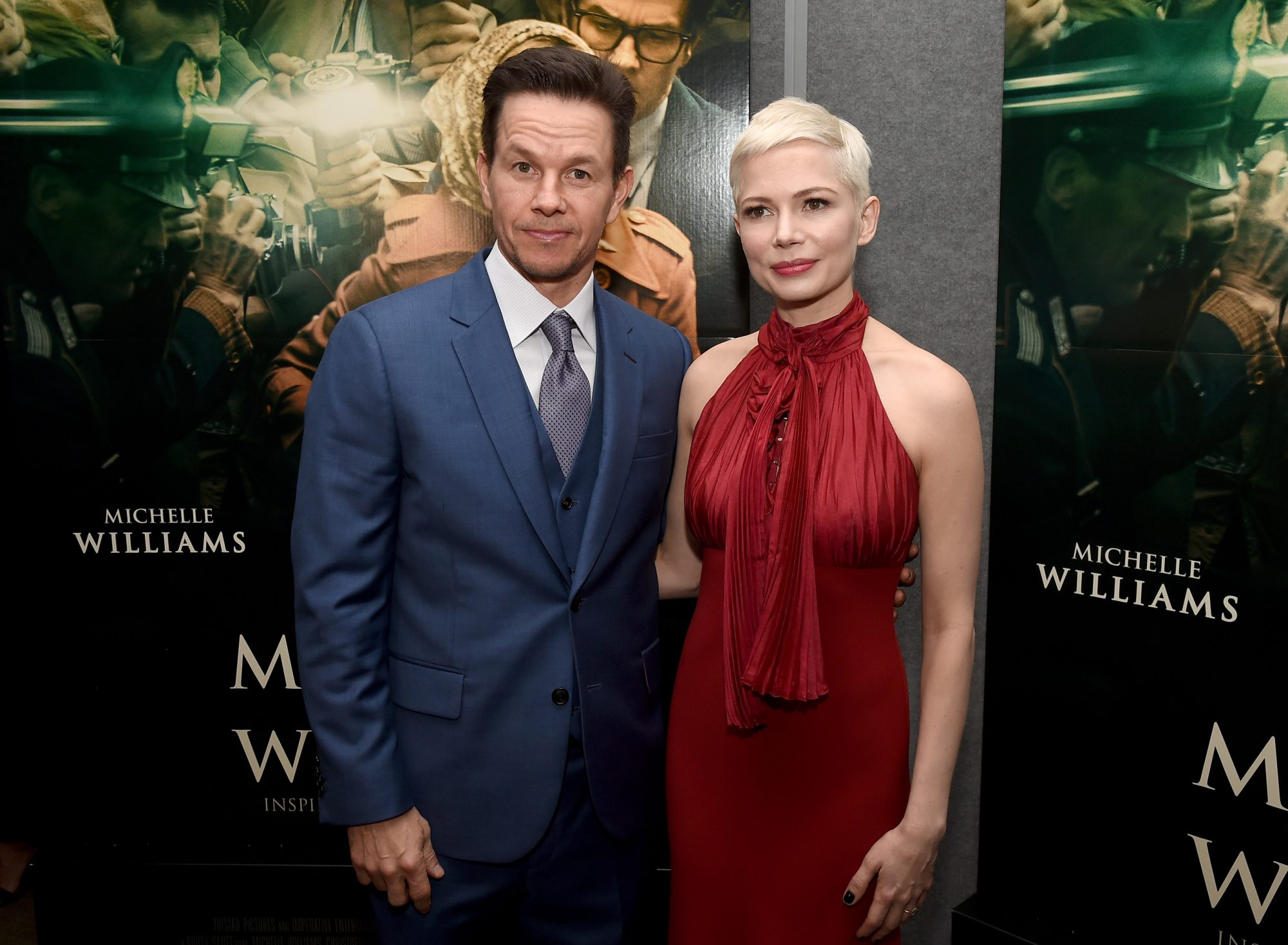 """Photo of Michelle Williams and Mark Wahlberg at the Premiere of """"All the Money in the World"""""""