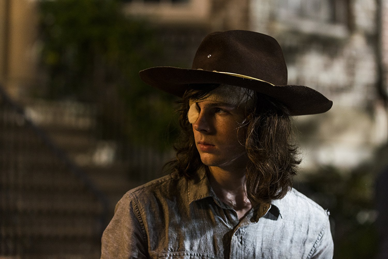 "Photo of Chandler Riggs as Carl Grimes in ""The Walking Dead"""