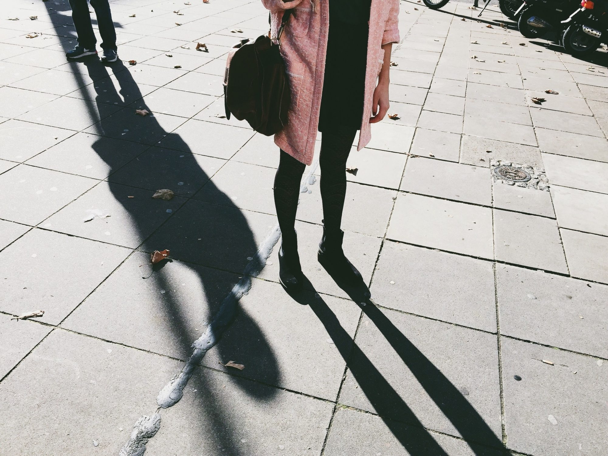 Image of woman being stalked