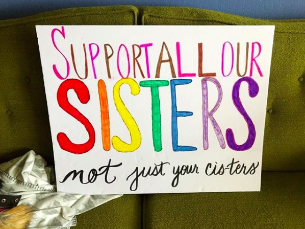 Picture of Women's March Sign Sisters