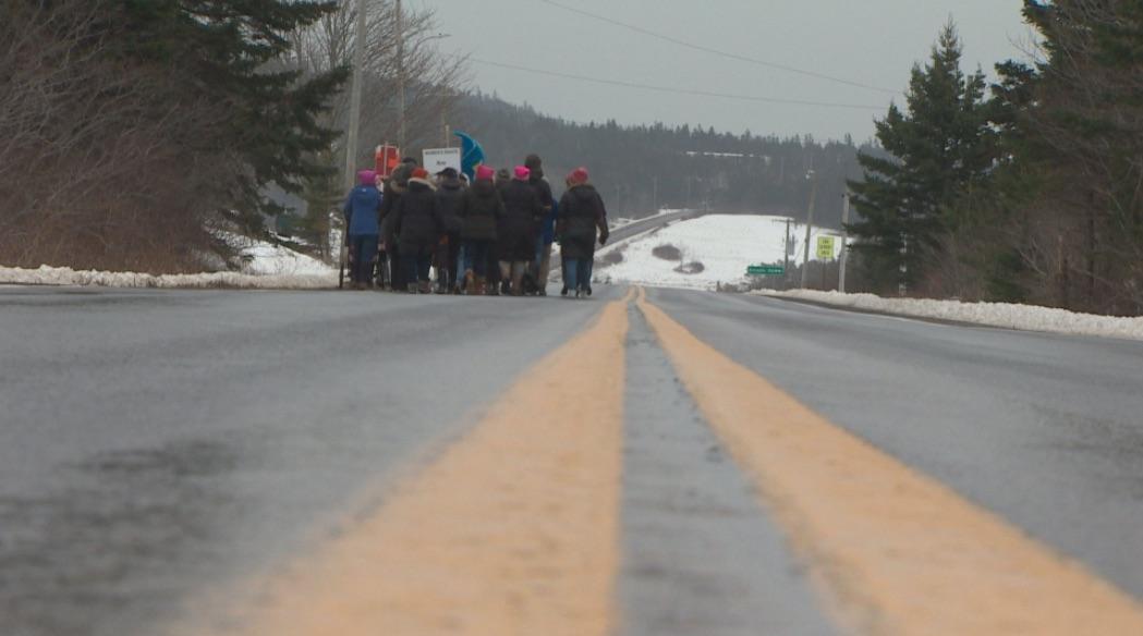 Photo of the 2018 Women's March in Sandy Cove, Nova Scotia