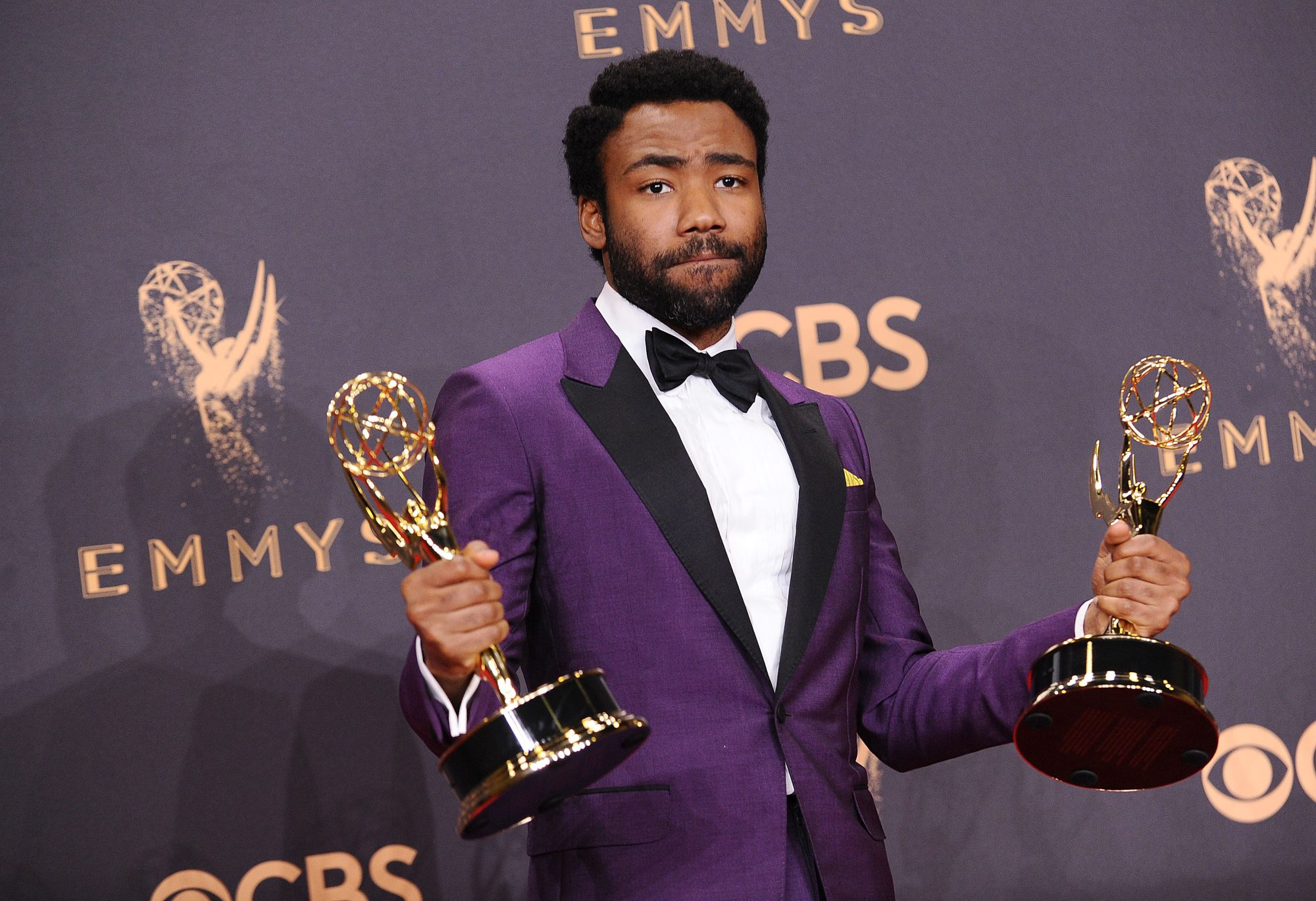 Photo of Donald Glover at the 69th annual Primetime Emmy Awards