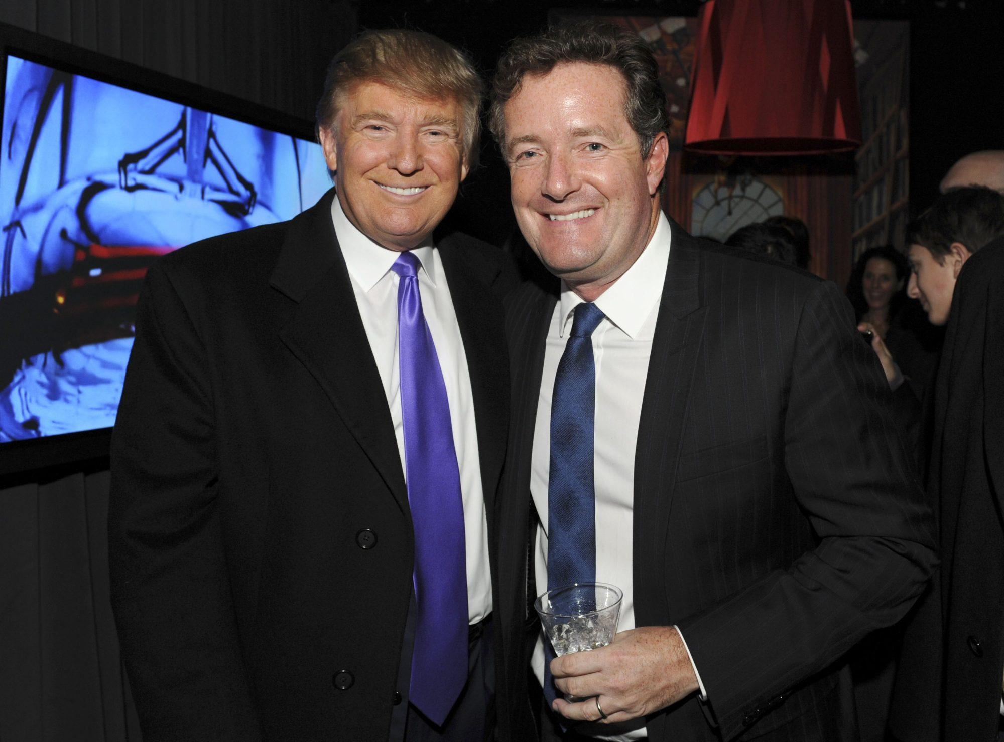 Photo of Donald Trump and Piers Morgan