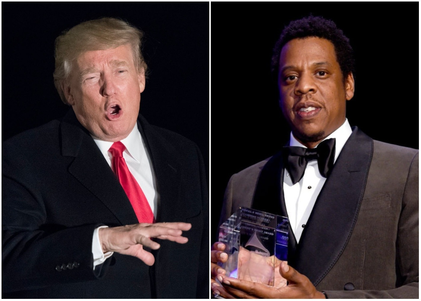 Picture of Donald Trump Jay-Z
