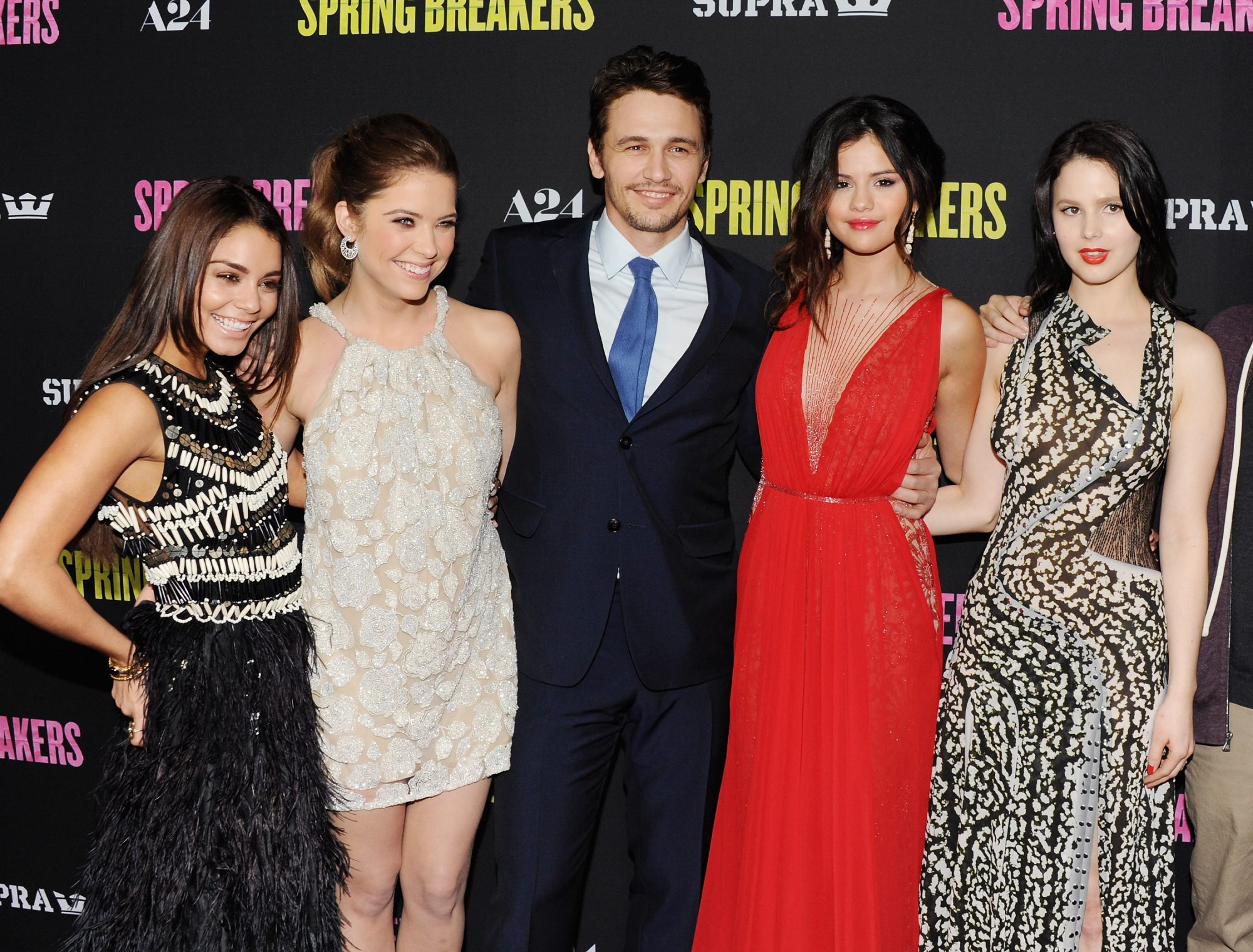 "Photo of Vanessa Hudgens and James Franco at the Premiere of ""Spring Breakers"""