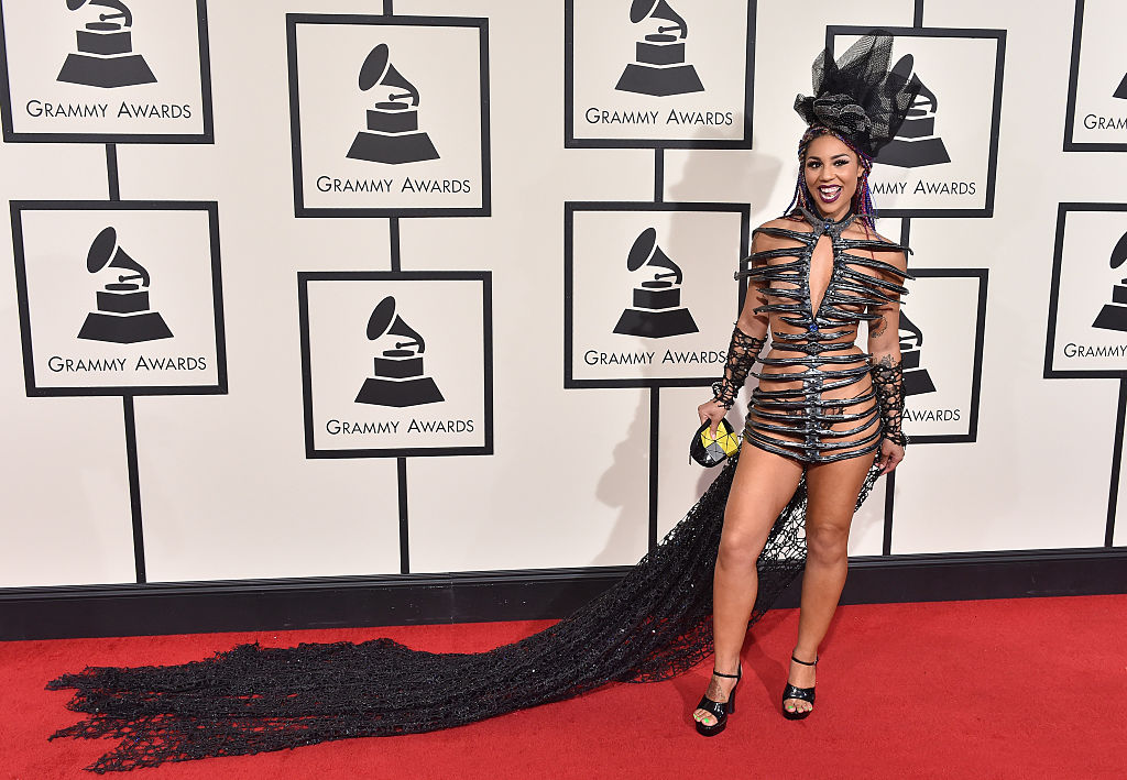joy-villa-grammys-striped-dress.jpg