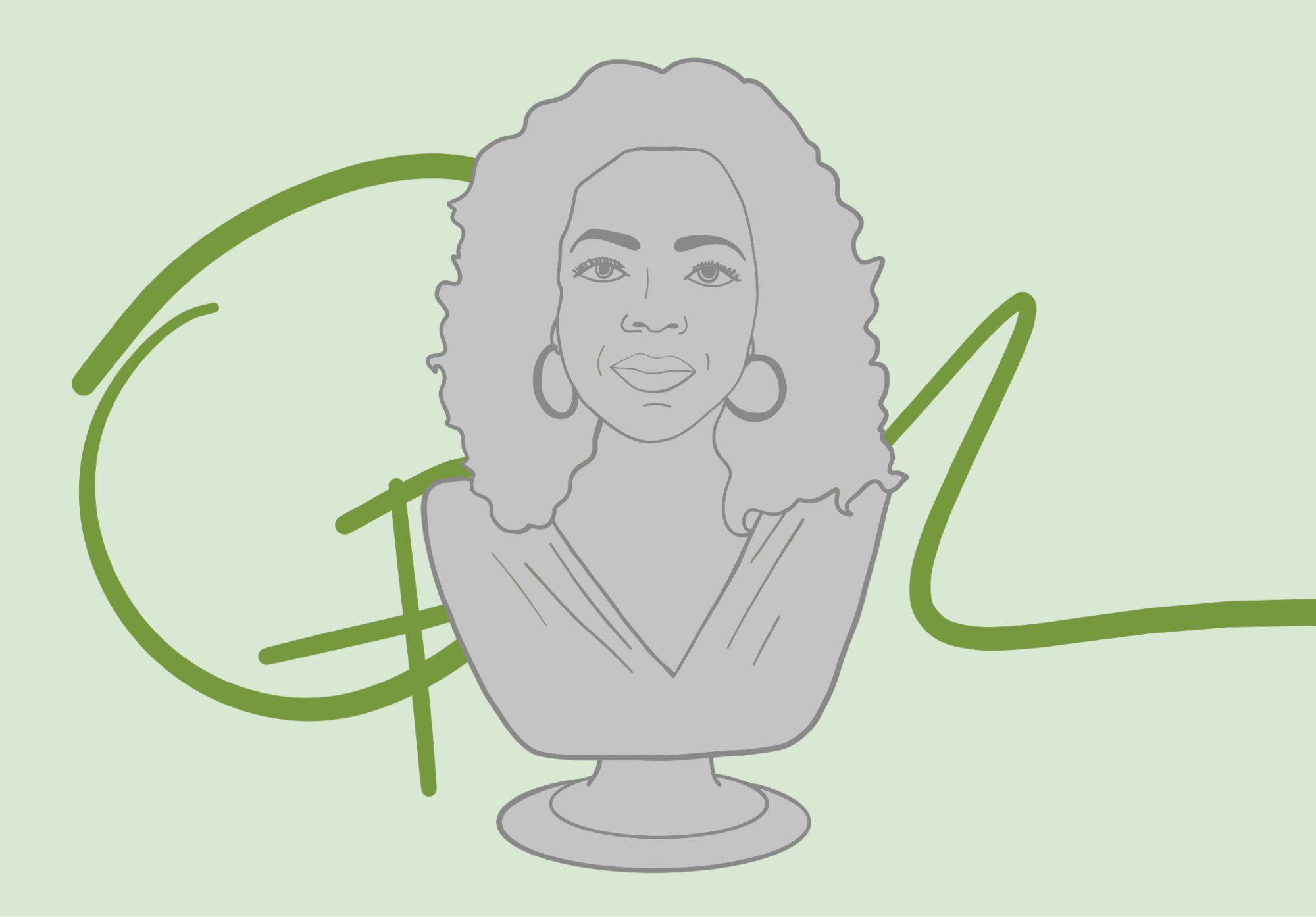 A bust of Oprah