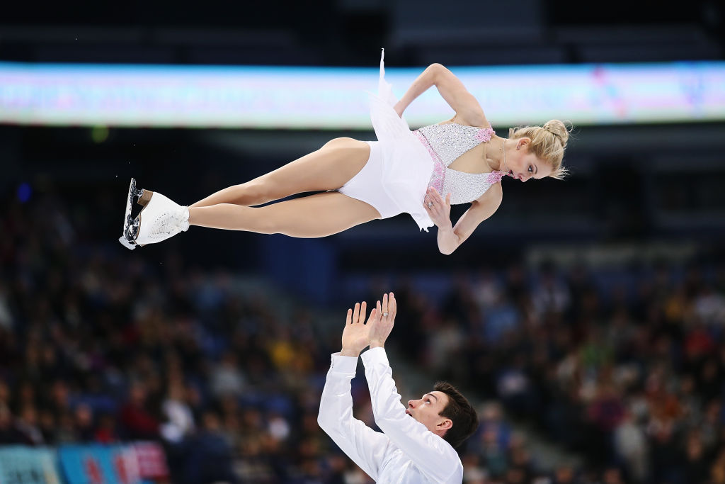 Alexa Scimeca and Chris Knierim of United States compete in the Pairs Free Skating