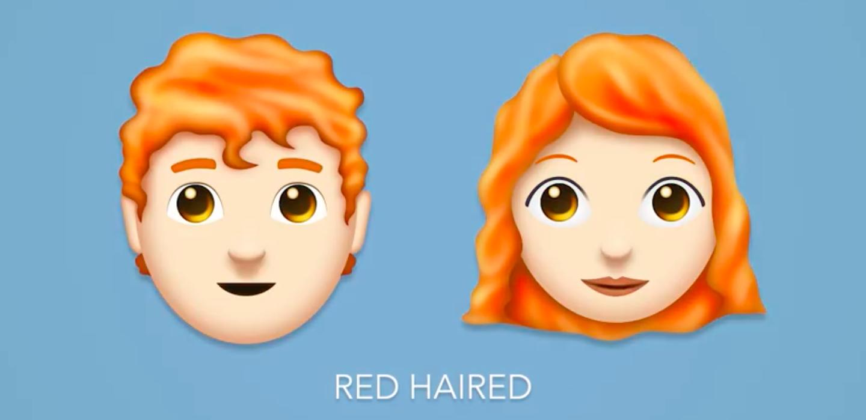 emojis red hair