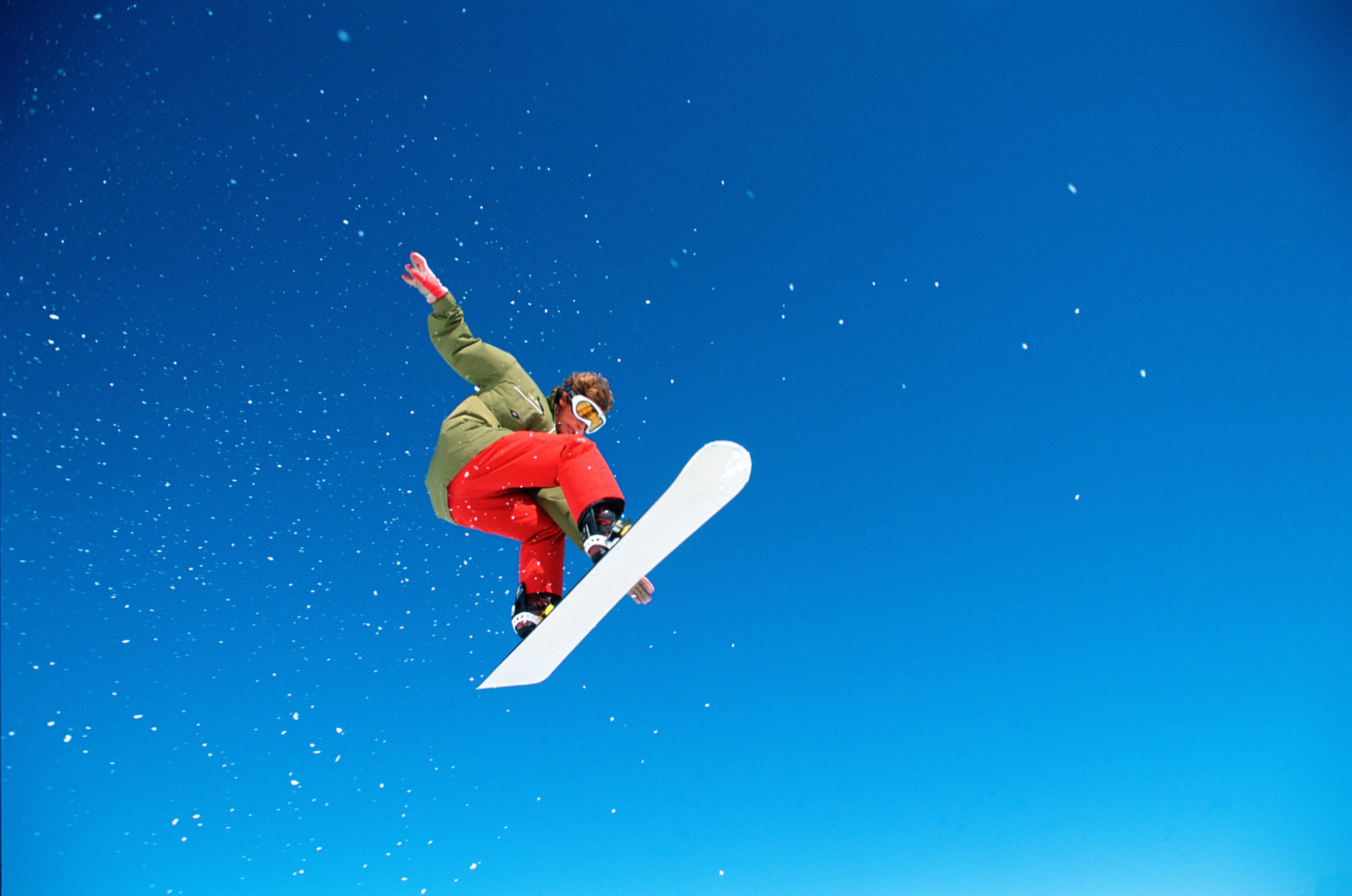 Photo of Athlete in Big Air Snowboarding Competition