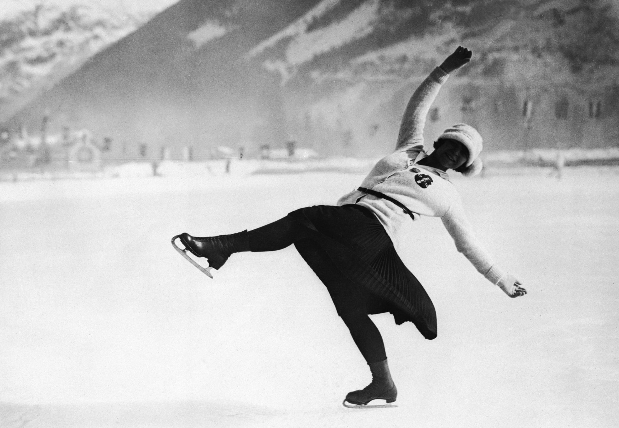 Photo of Figure Skater Herma Planck-Szabo at the First Winter Olympics