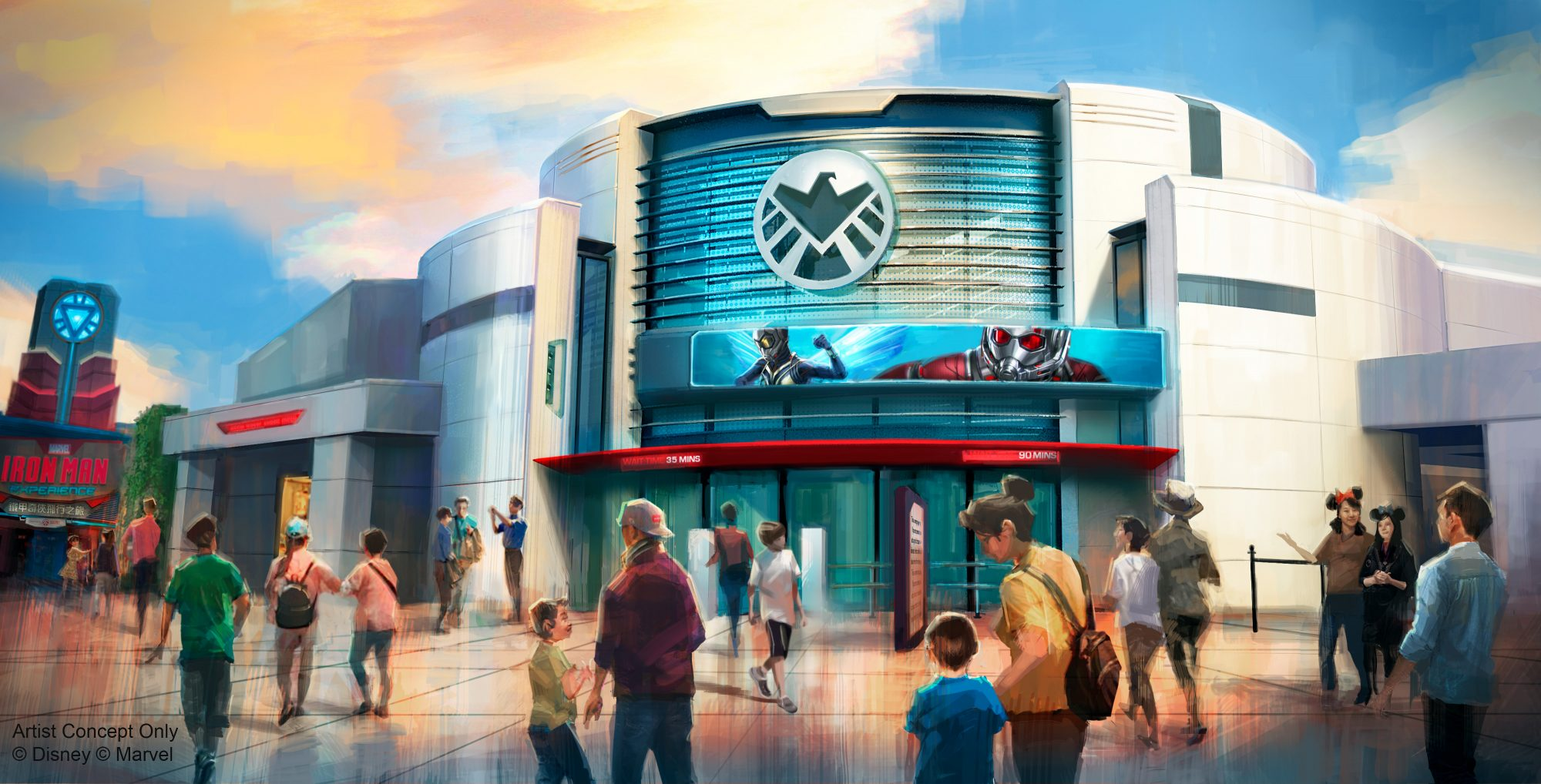A new Marvel attraction is planned for Hong Kong Disneyland, where guests will be invited to team up with Ant-Man and The Wasp to fight Arnim Zola and his army of Hydra swarm bots in a thrilling new adventure.