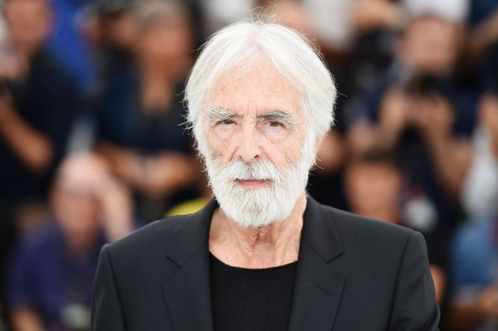 """CANNES, FRANCE - MAY 22: Director Michael Haneke attends the """"Happy End"""" photocall during the 70th annual Cannes Film Festival at Palais des Festivals on May 22, 2017 in Cannes, France. (Photo by Stephane Cardinale - Corbis/Corbis via Getty Images)"""