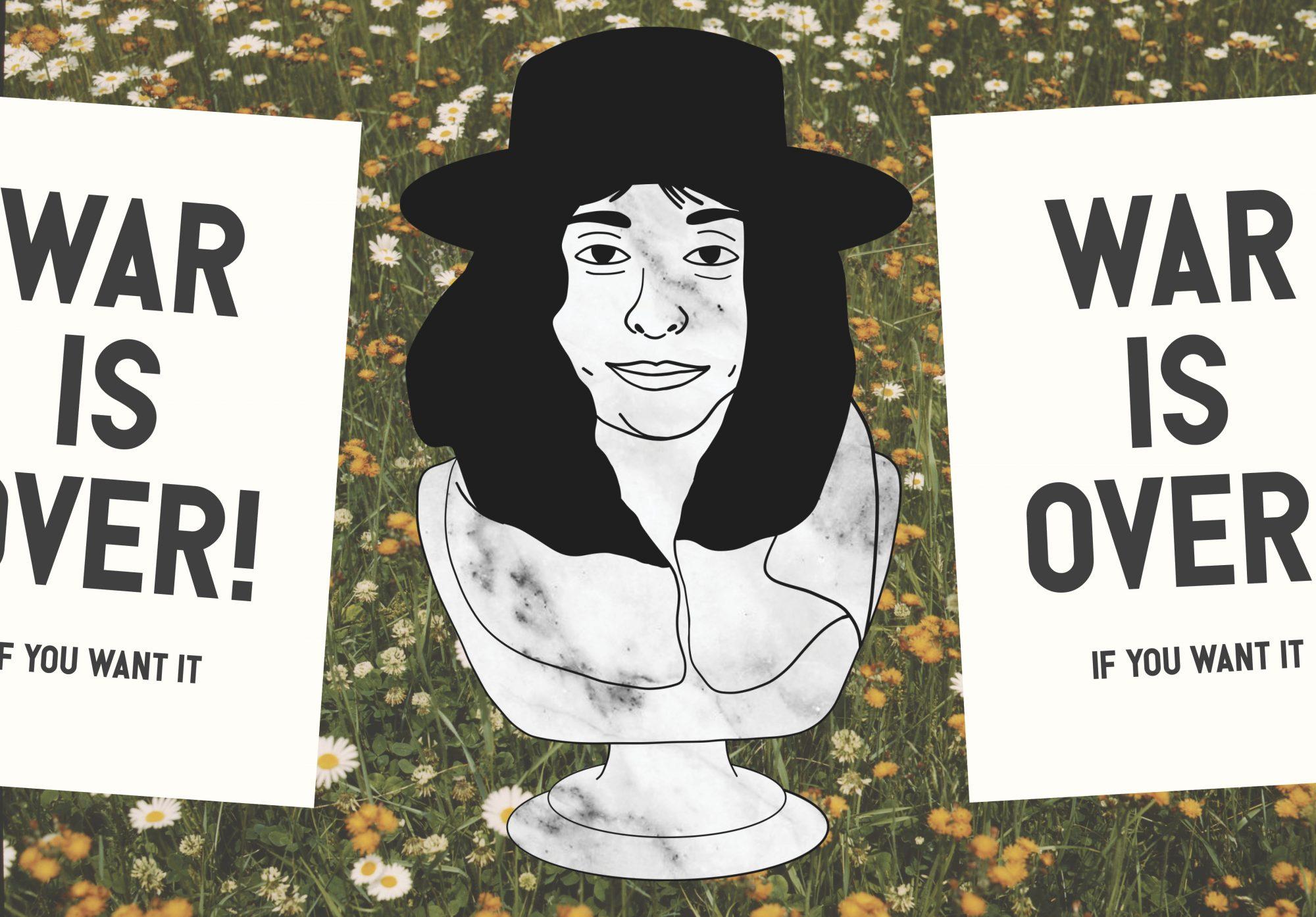Yoko Ono Marble Bust