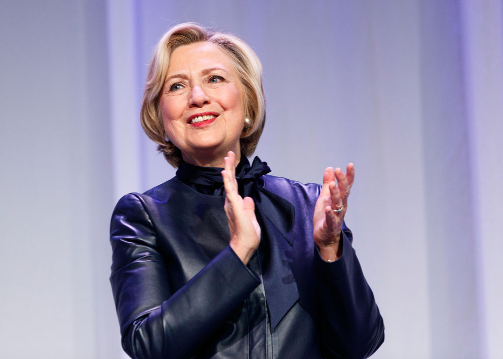Picture of Hillary Clinton Clapping