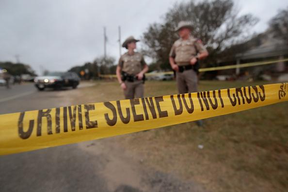 Texas shooting crime scene