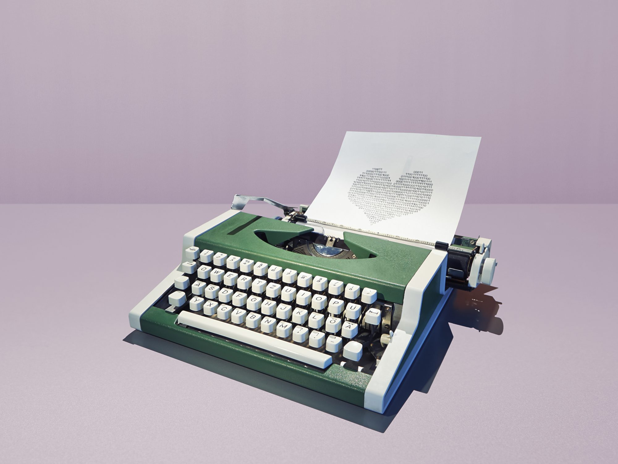 Image of typewriter with love letter