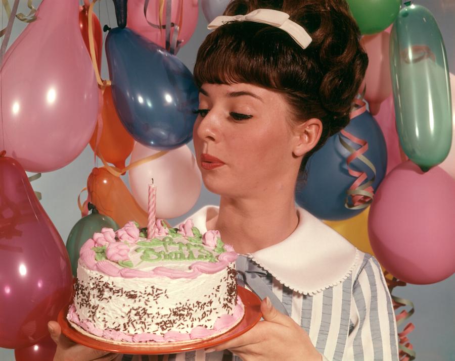 birthday cake woman