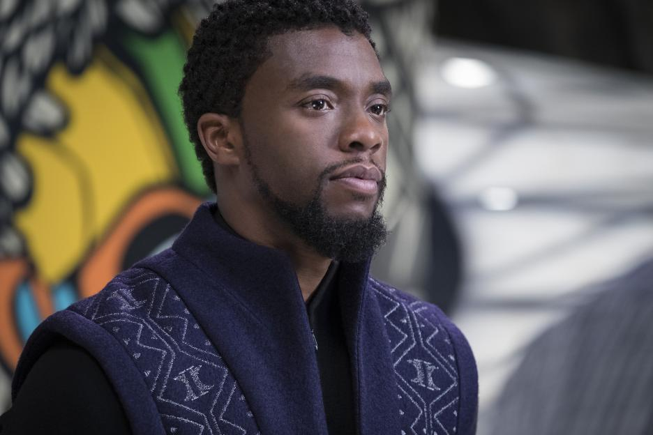 Photo of Chadwick Boseman as T'Challa in Black Panther