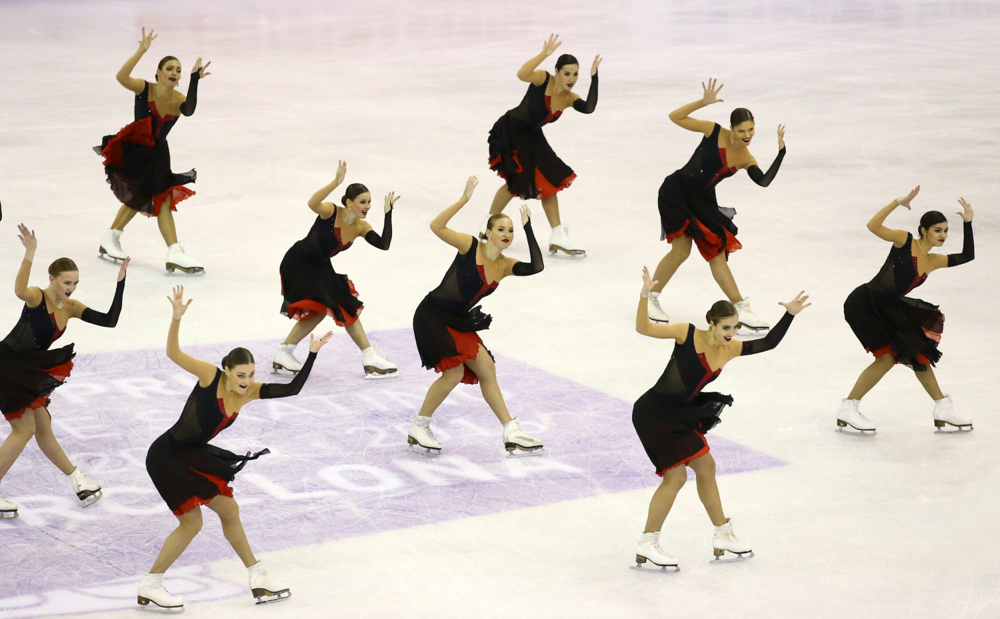 Photo of the Synchronized Skating Event at the ISU Figure Skating Grand Prix Final 2015-2016
