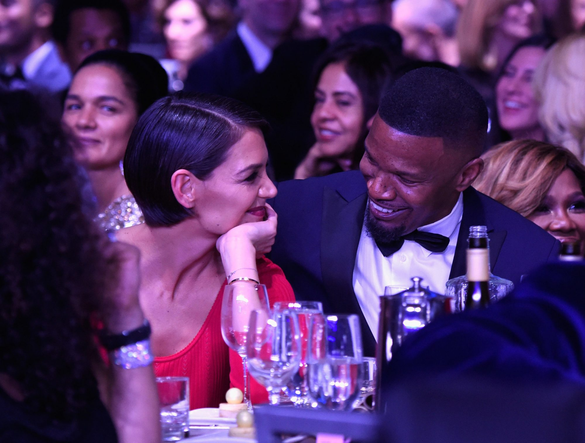 Photo of Jamie Foxx and Katie Holmes at the at the 2018 Pre-Grammy Gala