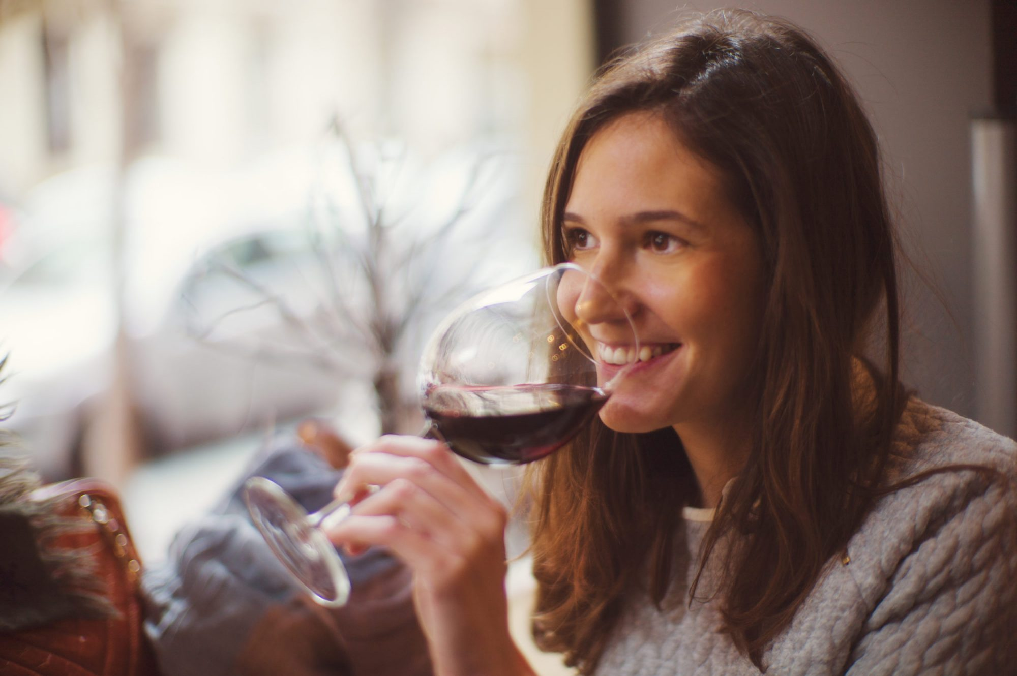 Photo of Woman Drinking Wine on National Drink Wine Day