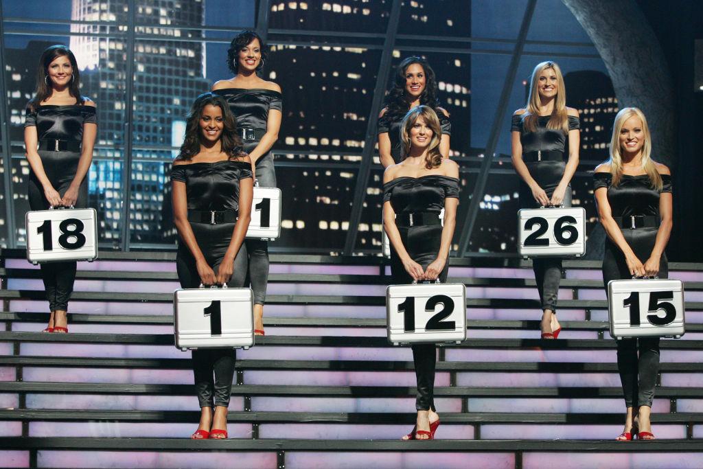 DEAL OR NO DEAL -- Episode 241 -- Pictured: (l-r, number order) Claudia Jordan (1), Jill Manas (12), Brooke Long (15), Marisa Petroro (18), Tameka Jacobs (21), Meghan Markle (24), Lindsay Clubine (26) --