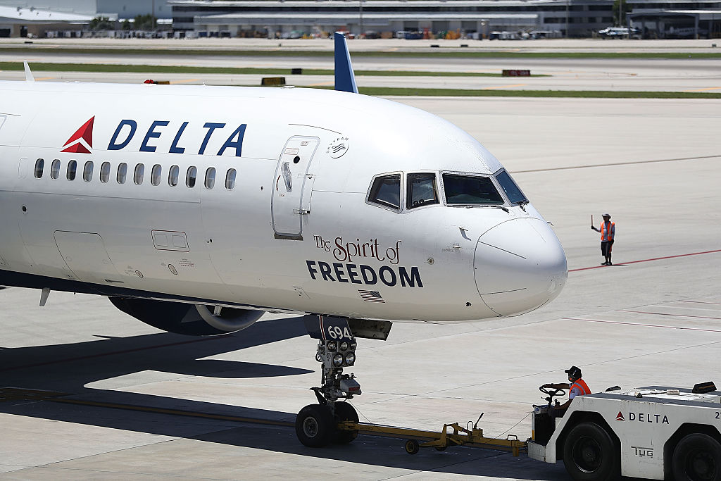 A Delta Airlines flight was delayed for 12 hours.