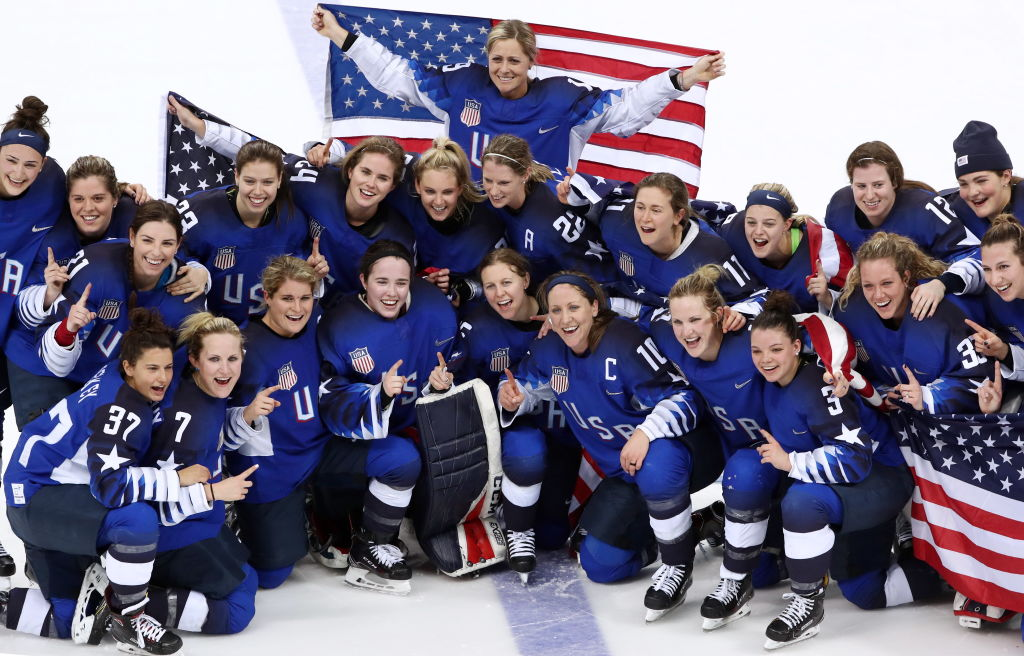 Team USA women's hockey won Olympic gold