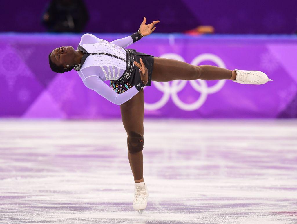 Maé-Bérénice Méité performed a costume change mid-skate at the Olympics