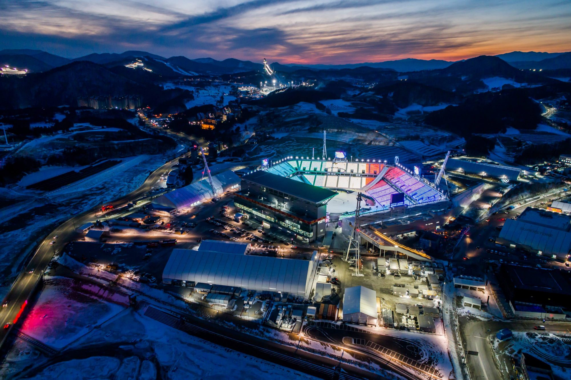 Photo of the Pyeongchang Olympic Stadium, Where the Olympics Closing Ceremony Will Be Held