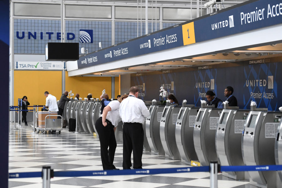 Image of United Airlines terminal