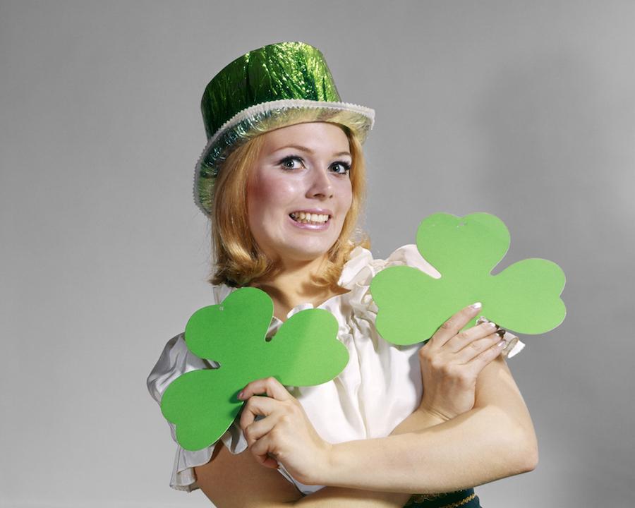 St. Patrick's Day woman
